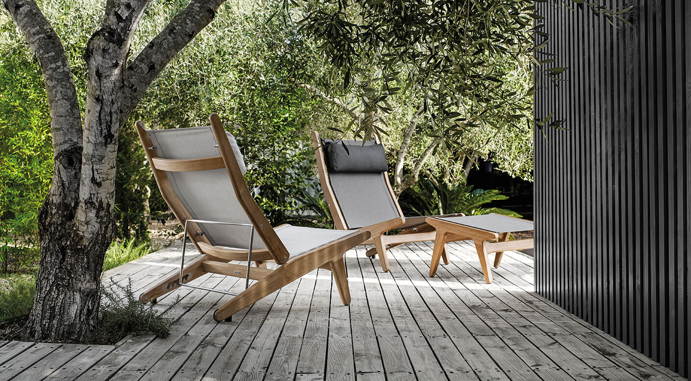 Outdoor Reclining Chair Bay, Outdoormöbel Gloster