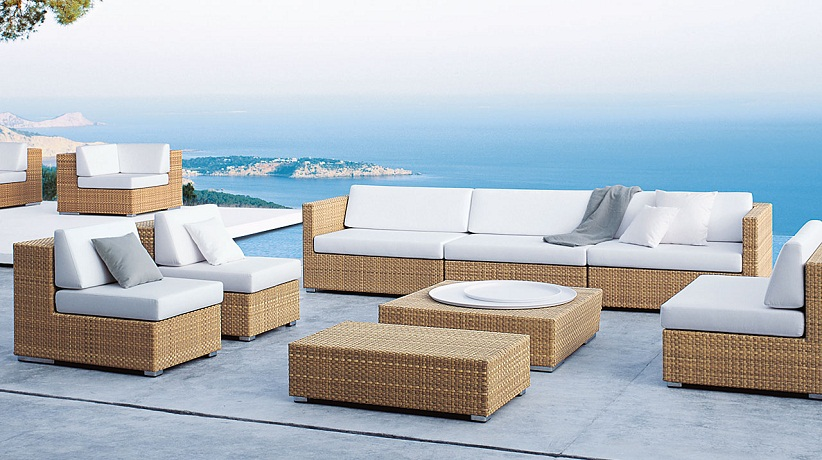 Outdoorlounge, Outdoorsafe Lounge, 3-Sitzer, Dedon