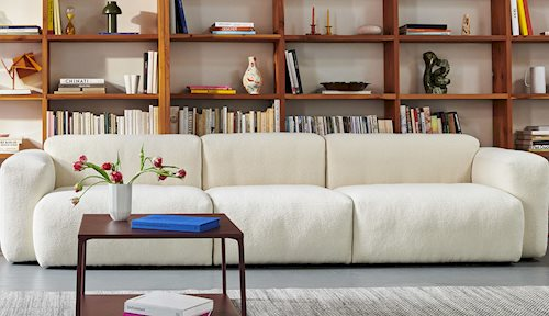 Sofa Mags Soft weiss, 3-Sitzer, Sofa Hay